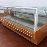 まっすぐなガラススーパーマーケット肉かビーフ冷却装置カウンター