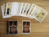 54 tarjetas que juegan de papel modificadas para requisitos particulares rusas de las tarjetas para la promoción
