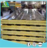 Pannelli a sandwich ondulati di colore d'acciaio chiaro ENV