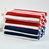 カスタムカラー縞の綿のきれいな卸し売り浴室タオル