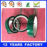 Espesor: longitud de 0.07m m: cinta basada película verde da alta temperatura del poliester del silicón del animal doméstico de los 33m