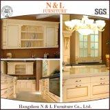 Gabinete de cozinha de madeira da madeira contínua da mobília do estilo moderno feito sob encomenda