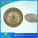 Feitos sob encomenda profissionais morrem moedas do desafio da lembrança da borda do corte da carcaça com todo o logotipo (XF-CO19)