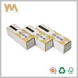 Rectángulo de papel al por mayor del cuidado de piel del embalaje con el sellado caliente del oro