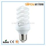 Pleine lampe d'économie d'énergie de T3 ESL/CFL de la spirale 18W