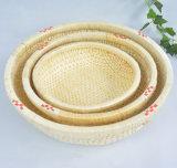 Cesta utilitaria antigua hecha a mano del sauce de cesta de mimbre (BC-ST1243)