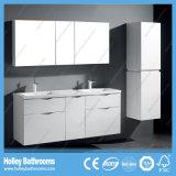 Lustro elevado vaidade luxuosa terminada do banheiro com 5 gavetas e o gabinete lateral (BF361D)
