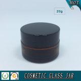 vaso di vetro ambrato cosmetico di memoria 20ml
