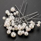 結婚の花嫁の真珠の花の水晶ヘアピンクリップ