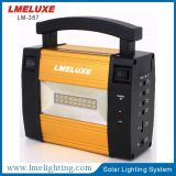 Lumière à la maison solaire portative avec le nécessaire solaire d'éclairage de la batterie Lm-367 de 6V 4ah