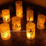 현실적과 밝은 가짜 LED Tealight는 Chirsmas Halloween 가정 장식을 Wedding를 위해 완벽한 노란 색깔을 불빛에 비춰 조사한다