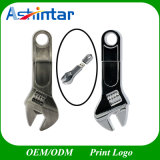 Movimentação do flash do USB da chave inglesa do USB Pendrive Thumbdrive do metal do disco do USB