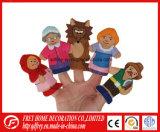 Brinquedo de fala do fantoche do dedo da história nova do projeto