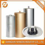shell de aluminio del condensador electrolítico del shell del borde del óvalo de los 45m