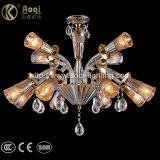 Indicatore luminoso a cristallo ambrato moderno del lampadario a bracci