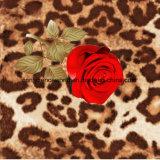 100%Polyester Rose und Leopard-Druck Pigment&Disperse druckten Gewebe für Bettwäsche-Set