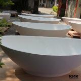 Kkr 수지 돌 둥근 욕조 자유로운 서 있는 타원형 목욕 통