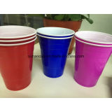 Чашка чашки красная Cup/PS партии пластичная/холодная выпивая чашка PS