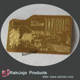 Cartões gravados Memership do metal com logotipo gravura a água-forte