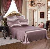 Taihuの雪の絹の優雅シリーズOeko-Tex 100の標準絹の継ぎ目が無い寝具19mommeの実質の贅沢で暗いアザミの純粋なクワ絹シートセット