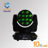 세륨 Certifiicate 단계 사건 당 빛을%s 상표 크리 말 LEDs와 가진 최신 판매 12LEDs*10W 4in1 RGBW LED 이동하는 맨 위 광속 빛