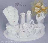 Madera y PU hechas modificadas para requisitos particulares visualización de cuero de la joyería para los conjuntos de la joyería