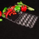het beschikbare van de het huisdierenblaar van de voedselrang clamshell verpakkende dienblad voor eieren
