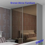 """Vetro Bronze rivestito dello specchio dell'argento del vetro """"float"""", specchio d'argento Bronze, specchio Bronze per la casa interna Decor Applications"""