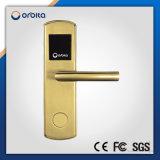 Fechamento de porta dourado do leitor de cartão do hotel da segurança
