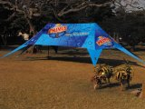 Outdoor Aluminum Frame Double Peak Advertizing Star Tent