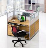 木MDFのオフィスの区分クラスタ事務員のスタッフワークステーション(HX-NCD142)