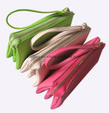 Lichee Muster PU-Beutel/Dame Handbag/3 Zipper Pockets