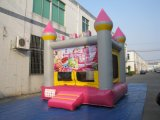 Moonwalk inflable rosado