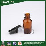 bernsteinfarbige Glasflaschen des spray-15ml mit schwarzem Lotion-Sprüher
