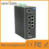 Interruptor industrial portuário controlado do Ethernet do trilho do RUÍDO de um Tx de 8 megabits