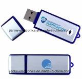Голубая рекламируя напечатанная ручка флэш-память USB логоса с логосом (101)
