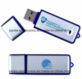 USB azul giratoria flash Memory Stick con el logotipo impreso (101)