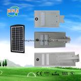 Integrar la lámpara de calle de la energía solar LED del sensor de movimiento