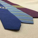 Lazo de lino de seda tejido telar jacquar de la manera delgada para los hombres