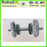 Insieme di rotella del ghisa o dell'acciaio di getto/rotella di vagone carboniera