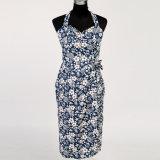 型の衣類の女性のミディの細いホールターの堅い鉛筆の花柄のドレス