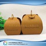 Cadre de empaquetage de papier de carton mignon pour le gâteau de nourriture (xc-fbk-026A)