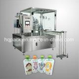 주스를 위한 가득 차있는 자동 액체 충전물과 모자 조이는 기계