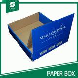 Het Vakje van de Vertoning van de Vakjes van het Document van Kraftpapier van fabrikanten (BOSVERPAKKING 016)