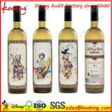 Contenitore di vino del cartone ondulato della fabbrica con la maniglia & la finestra per l'imballaggio del vino delle tre bottiglie