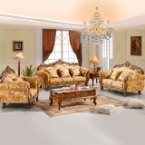 Sofá clásico con el marco de madera del sofá para los muebles caseros (929J)