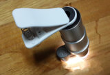 avec la lentille superbe de microscope de l'objectif de caméra de lumière UV 200X