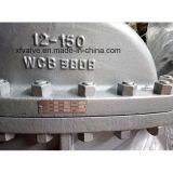 válvula de porta da extremidade da flange de Wcb do aço de carbono do molde de 300lb 150lb