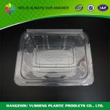 Recipientes de alimento plásticos do supermercado fino retangular