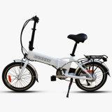 E-Bici piegante della lega di alluminio con la batteria di litio nascosta
